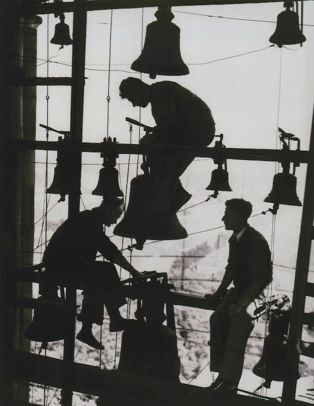 Repairing the bells of Potsdam, Germany, 1930
