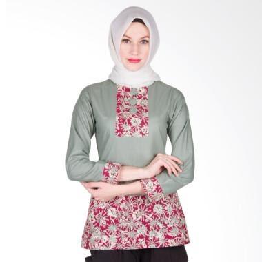 Kemeja Batik Slimfit Pria LS1076C Kombinasi Muslim Koko Jeans. Source · JUAL DISKON Arya Putri