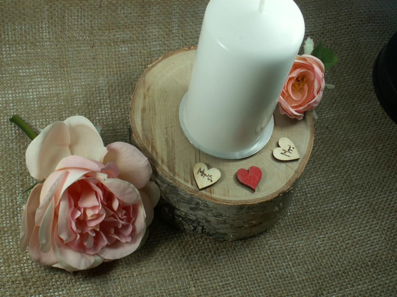 Rustic Birch Wedding Candle, holders Wedding Decor