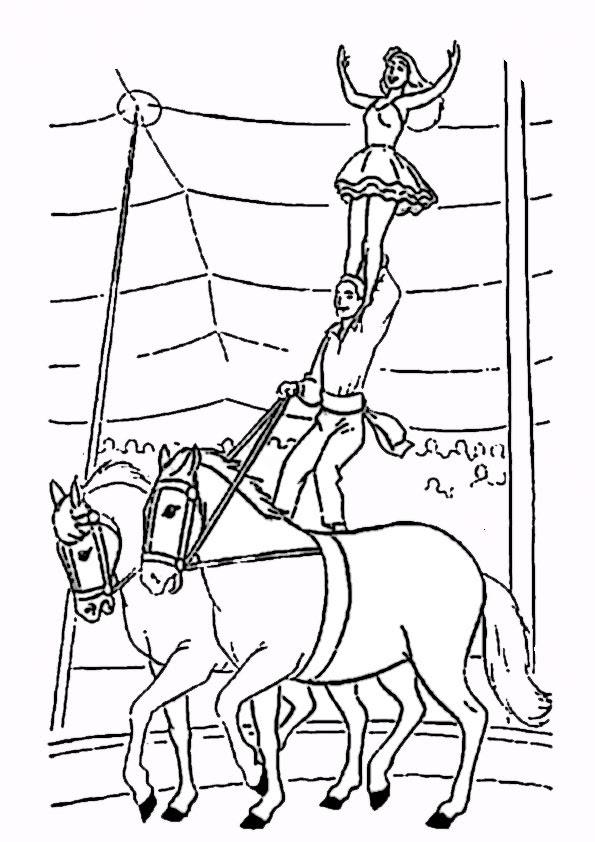 ausmalbilder zirkus zum ausdrucken  malvorlagen