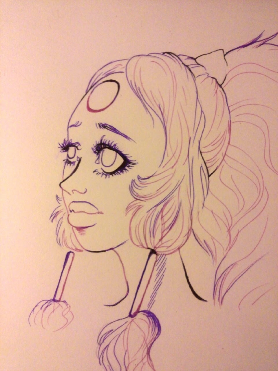 A bust of Opal I did in ink