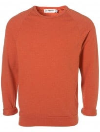 Topman Orange Washed Raglan Sweater