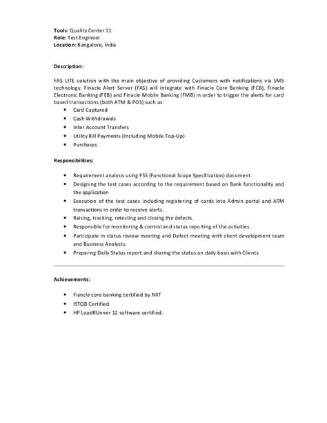 Performance testing & engineering CV