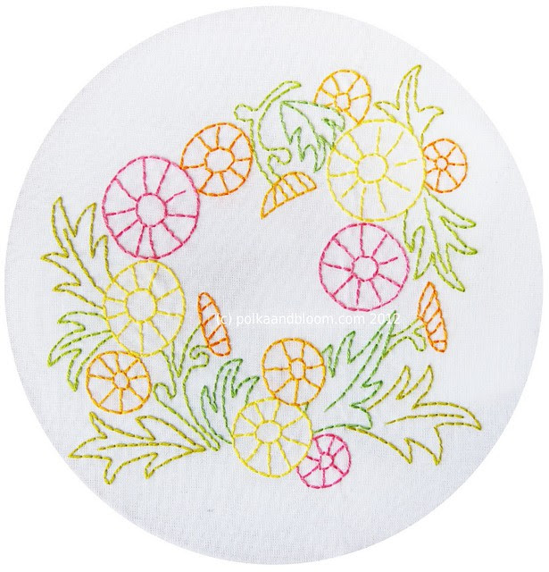 New pattern - Dandelion Wreath