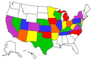 States I've two-wheeled in...