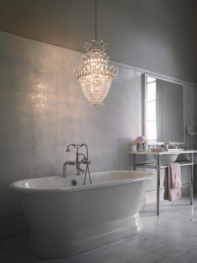 Decor Inspiration: Chandeliers in the Bathroom   Yes Missy!