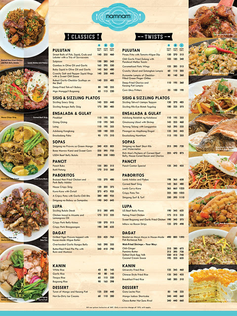Namnam Menu Greenbelt