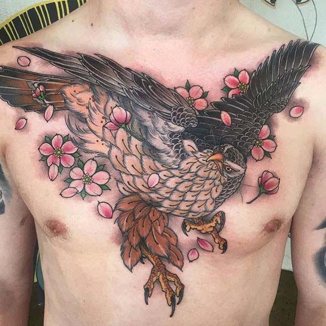 Japanese Hawk Tattoo Best Tattoo Ideas Gallery