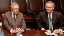 Harry Reid, left, and Mitch McConnell