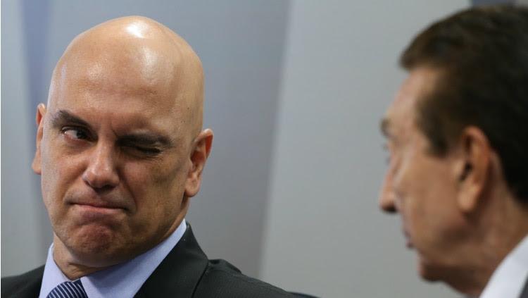 Alexandre de Moraes e o presidente da CCJ do Senado Edison Lobão - Dida Sampaio/Estadão