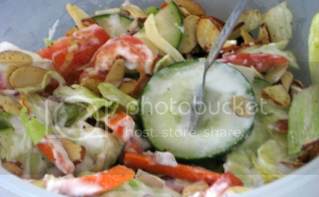 Vegetable salad with homemade ranch diet food art of for Art of indian cuisine