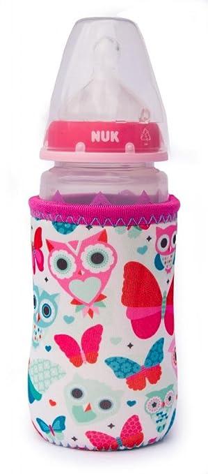 Kidzikoo - #1 Neoprene Baby Bottle/Sippy Cup Insulator Cooler Coozie - Butterflies & Owls