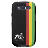 Black Rasta Stripe Samsung Galaxy S3 Vibe Case Samsung Galaxy S3 Covers