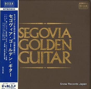 SEGOVIA, ANDRES golden guitar