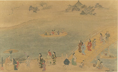 Ryogoku Bridge - ukioye book illustration