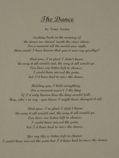 The Dance Garth Brooks Lyrics Meaning