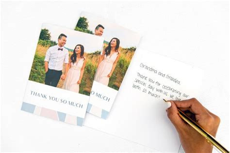 Wedding Thank You Card Etiquette   Nations Photo Lab