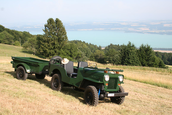Denis Amiet's 1954 Willys CJ-3B and Trailer 1951