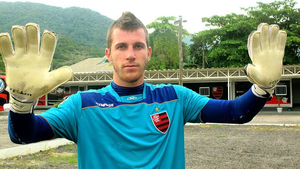 Paulo Victor, goleiro do Flamengo (Foto: Janir Junior / GLOBOESPORTE.COM)