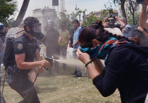 Another targeted pepper-spray moment from earlier today.