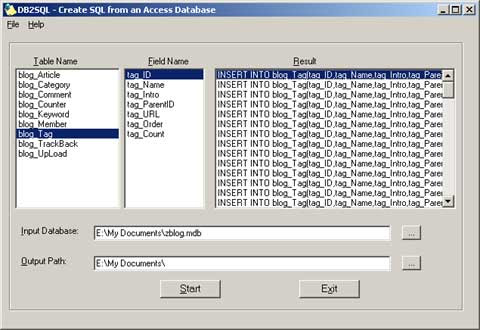 Free Access to MySQL Database Converter
