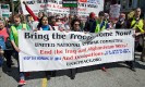 Malalai Joya addresses protest in San Francisco