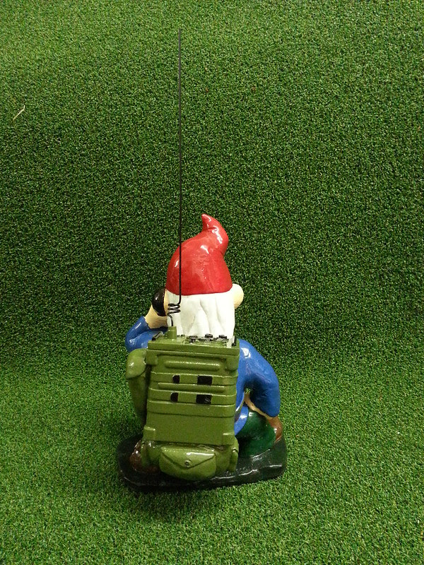 Combat Garden Gnome Radioman Back