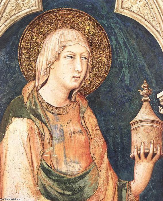 Santa María Magdalena (detalle), frescos de Simone Martini (1284-1344, Italy)