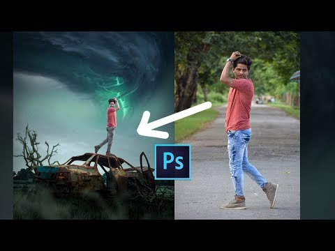 Photoshop manipulation tutorial | How to make Poster | Sony Jackson Edit...
