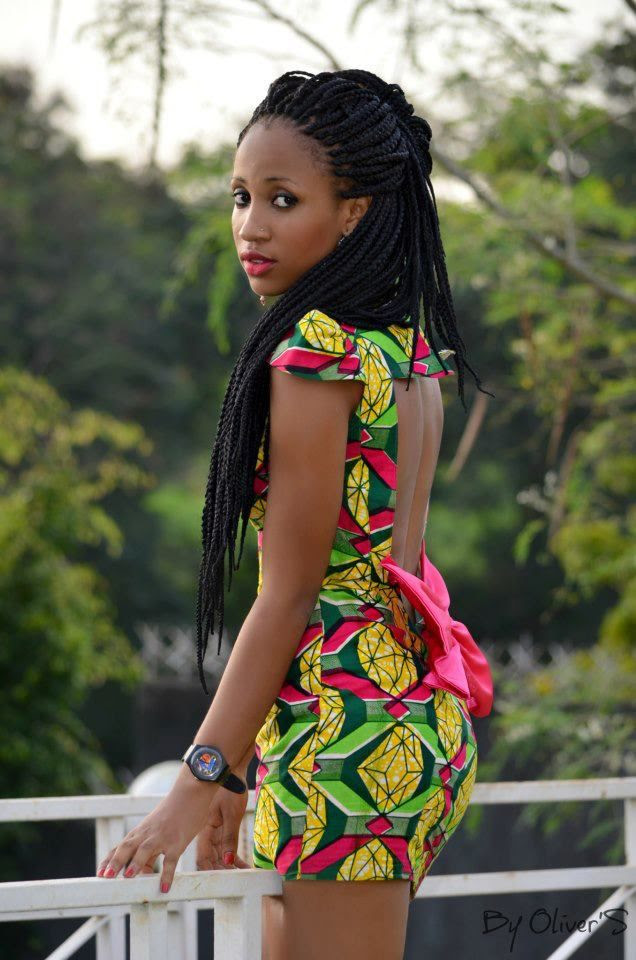 backless african print dress and hair! gotta have it!