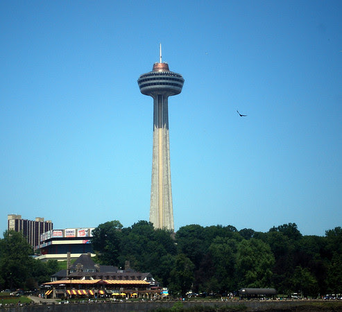 Skylon Tower as seen from the American side of the Niagara River