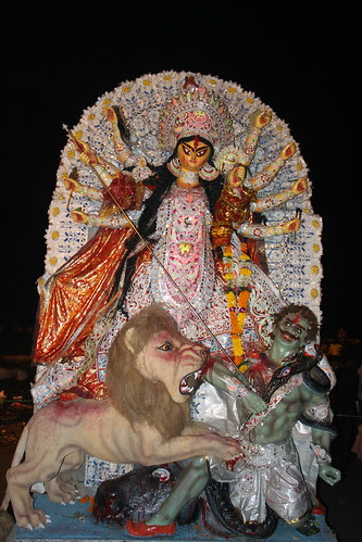 This Durga Was Beautiful But Heavily Protected By The Pandal From The Common Man by firoze shakir photographerno1