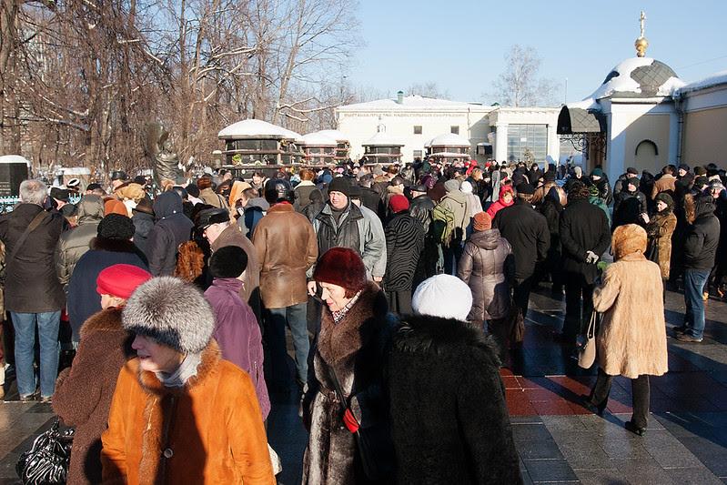 75 лет Владимиру Васоцкому на Ваганьковском кладбище
