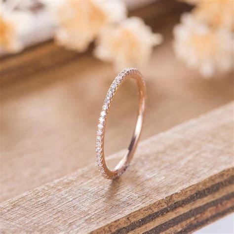 Eternity Diamond Band Rose Gold Wedding Band Women