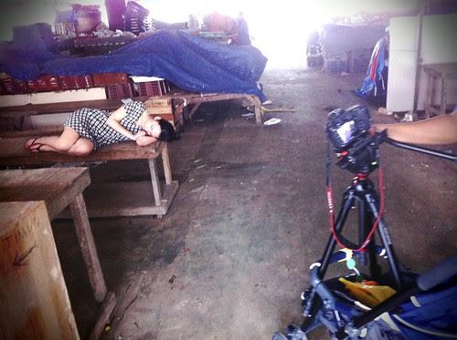 Shooting the obligatory sleeping shot