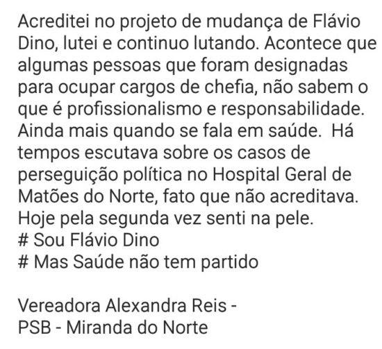 Vereadora de Miranda do Norte - Flávio Dino