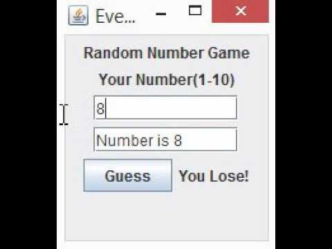 Random Number Game Code