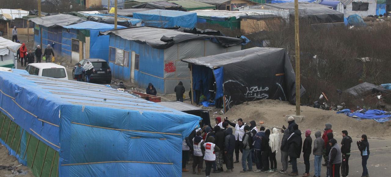 La «nouvelle jungle» des migrants, à Calais.
