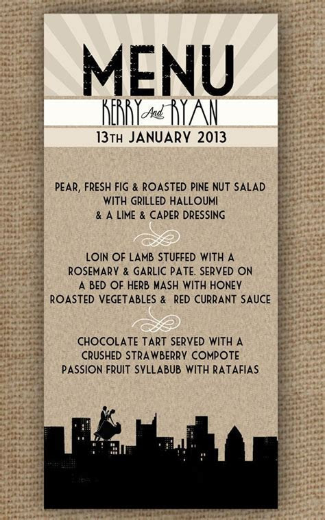 50 best 1920s menu project images on Pinterest   Gatsby