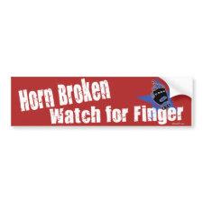 Horn Broken Bumper Sticker bumpersticker