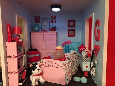 american girl diy bedroom follow  dolls house ideas