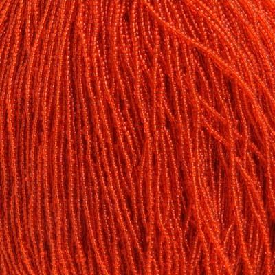 66434942 Czech Seedbeads - 11/0 Seedbead - Transparent Orange (hank)