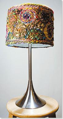 Yarn Mosaic Lampshade
