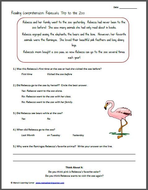 NEW 35 FREE FIRST GRADE SPANISH READING PREHENSION