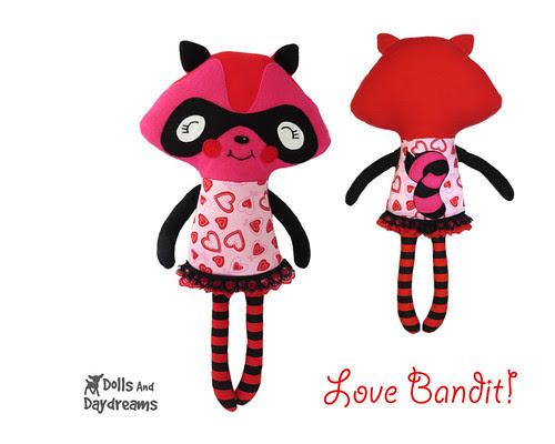 Raccoon Love Bandit Softie