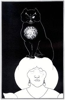 the black cat by aubrey beardsley