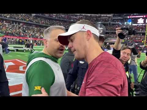 """Matt Rhule tells Lincoln Riley: """"Go win it all!"""""""