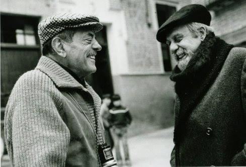 Luis Buñuel y Fernando Rey en Toledo durante el rodaje de Tristana en 1969