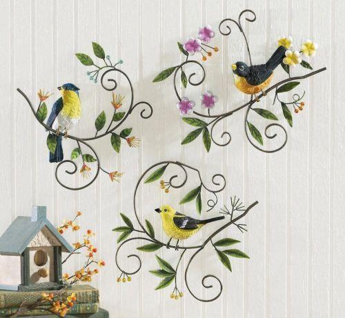 Metal Bird Wall Decor | eBay