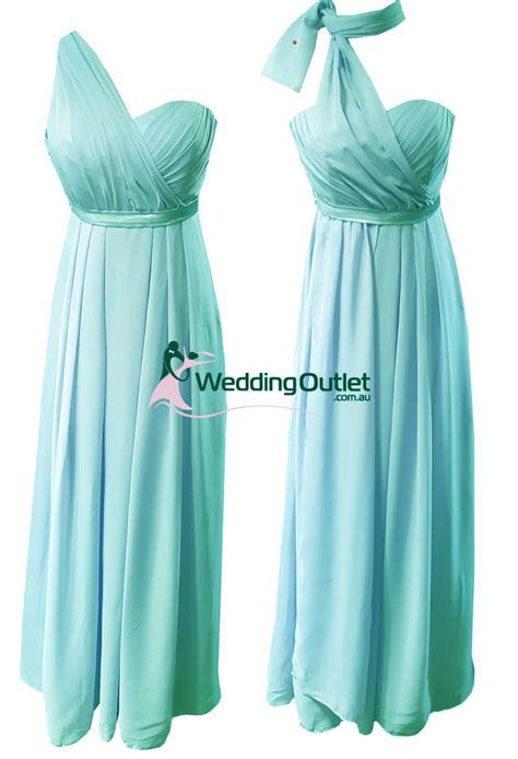 Aqua Tiffany Blue Convertible Wrap Dress Style #UU101